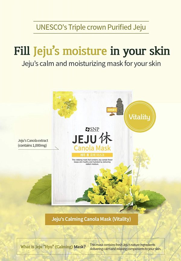 jeju face sheet masks yellow