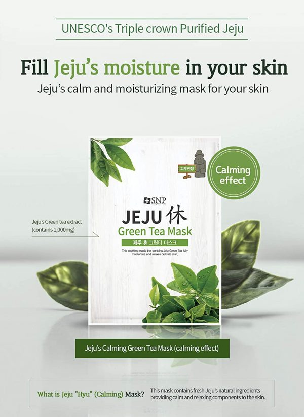 jeju face sheet masks green