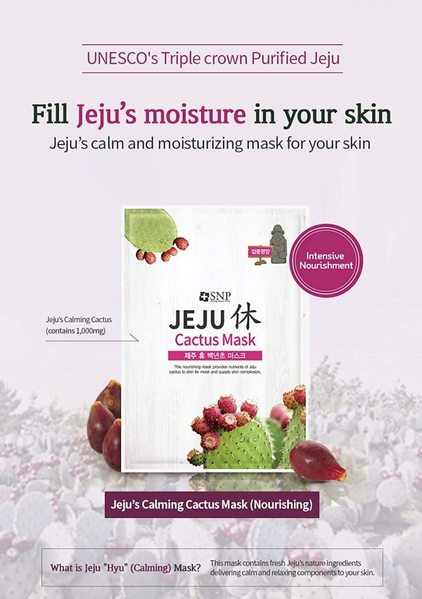 jeju face sheet masks purple
