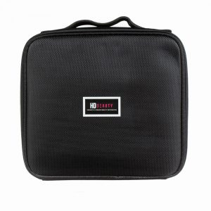 HD black portable cosmetic bag