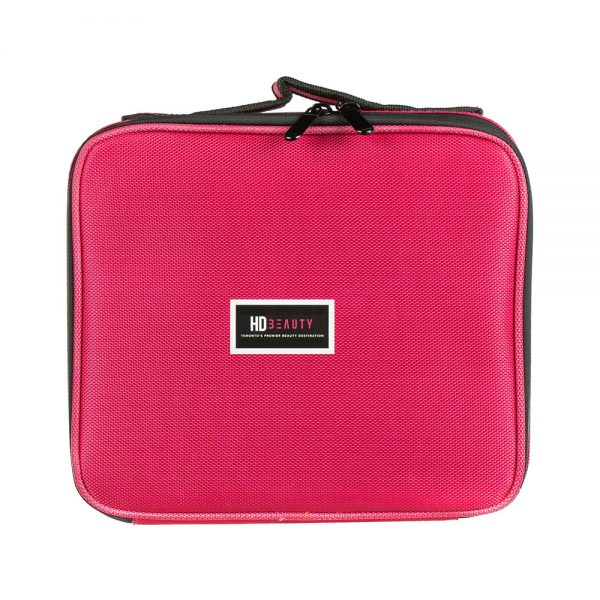 HD pink portable cosmetic bag