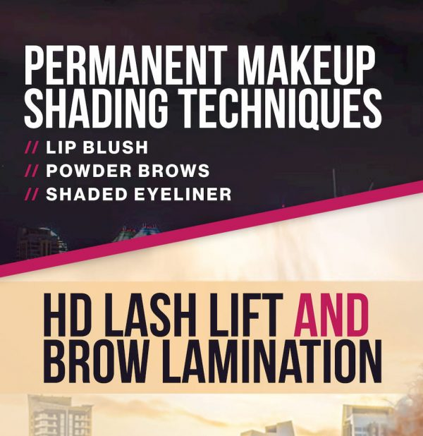 combined 4-day course permanent makeup and lash lift – edmonton, ab